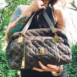 Marc Jacobs Quilted Satchel Multi Pocket Bag